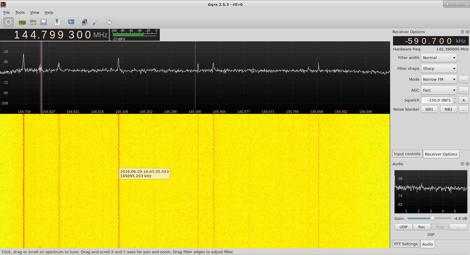 Gqrx 2.11.5 SDR unter Linux UPDATE