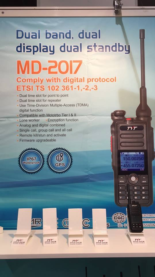 """tyt """"MD2017"""" preview VHF/UHF DMR"""