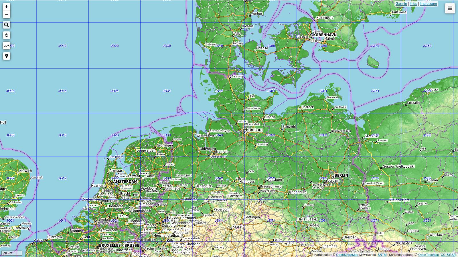 Open Tropo Map mit QTH Kenner