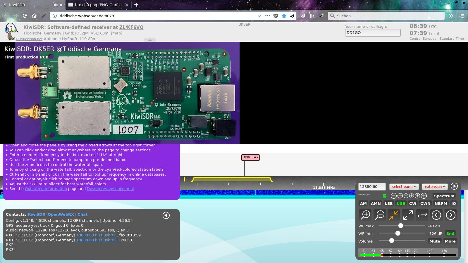 Web SDR von OpenWebRX