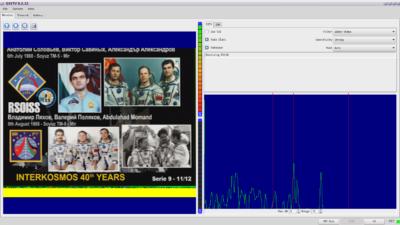 QSSTV empfängt Bilder von der ISS