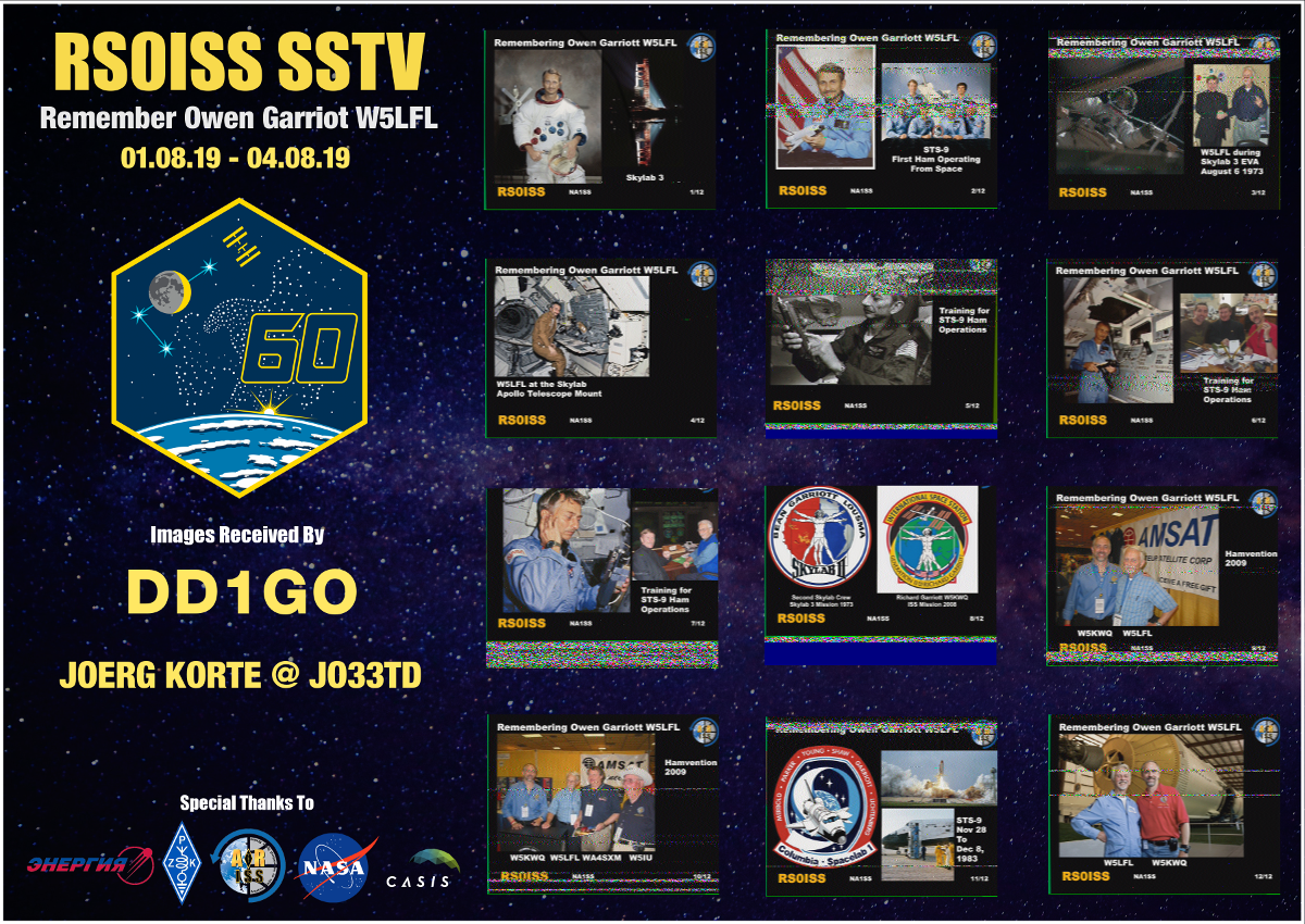 ARISS SSTV Owen Garriott W5LFL Memories