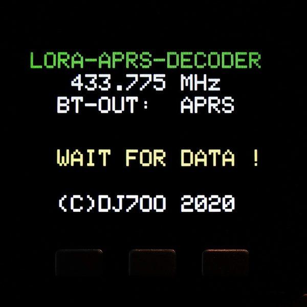 LoRA APRS auf 433.775MHz