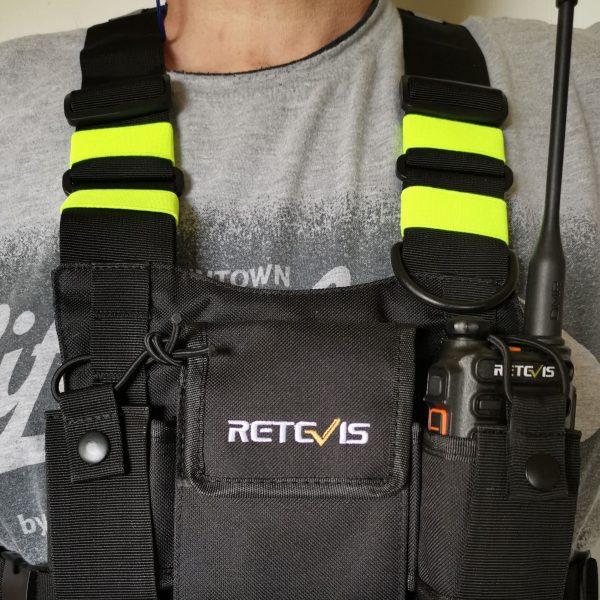 Fluoreszierende Brusttasche für 2 Geräte