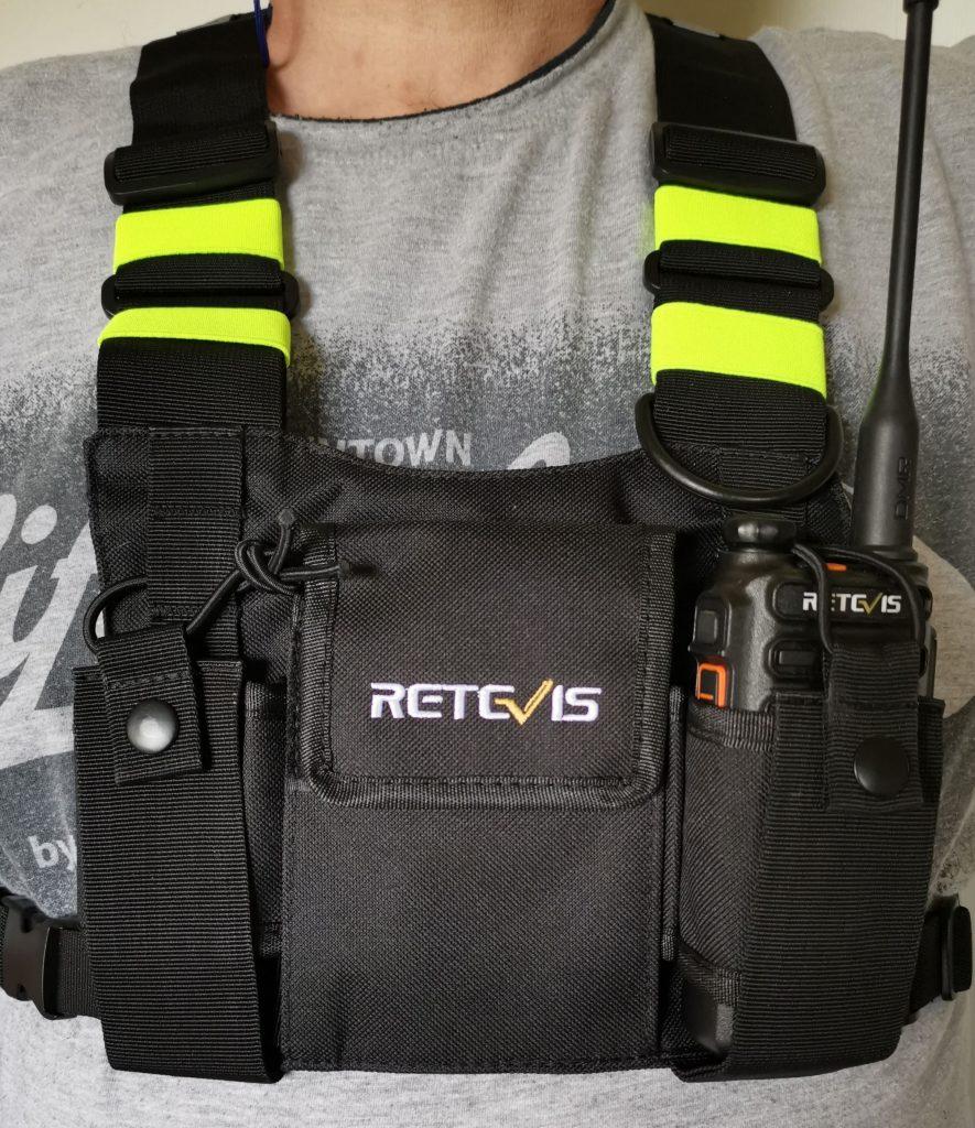 HB02 Black Fluorescent Double Chest Bag SKU: C9153A
